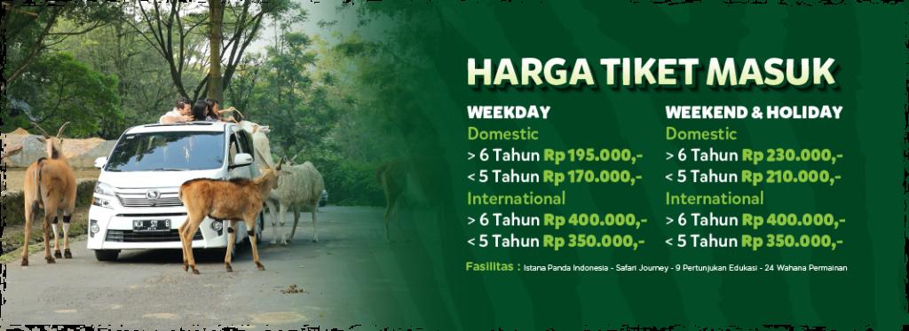 Harga Tiket Masuk Taman Safari Bogor Siang