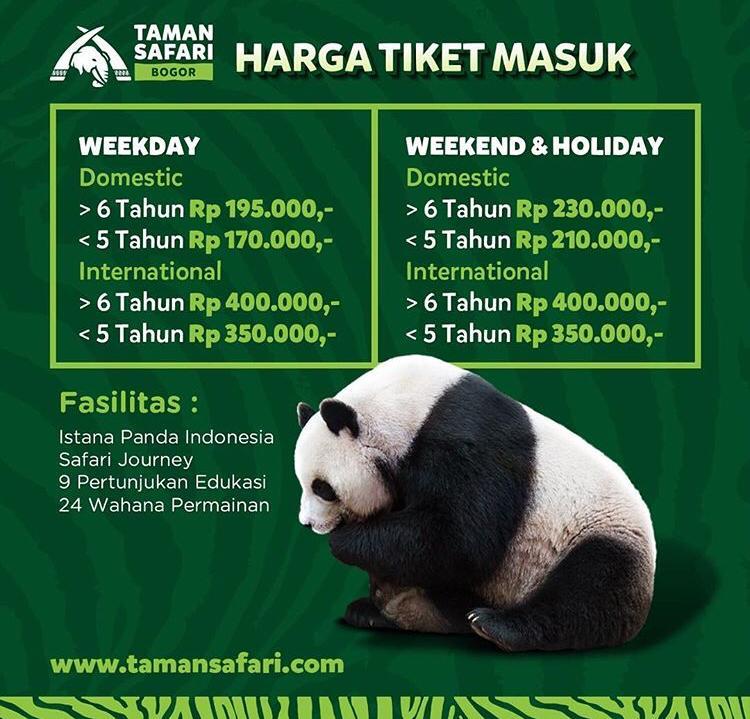 harga tiket taman safari