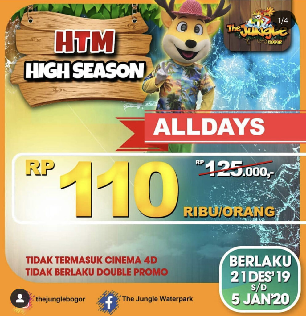 Harga Tiket High Season The Jungle